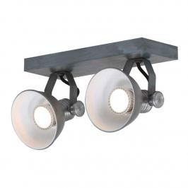 LED-Deckenspot Brooklyn 2flammig, grau