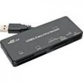 InLine Card Reader, USB 3.0, all in 1, schwarz